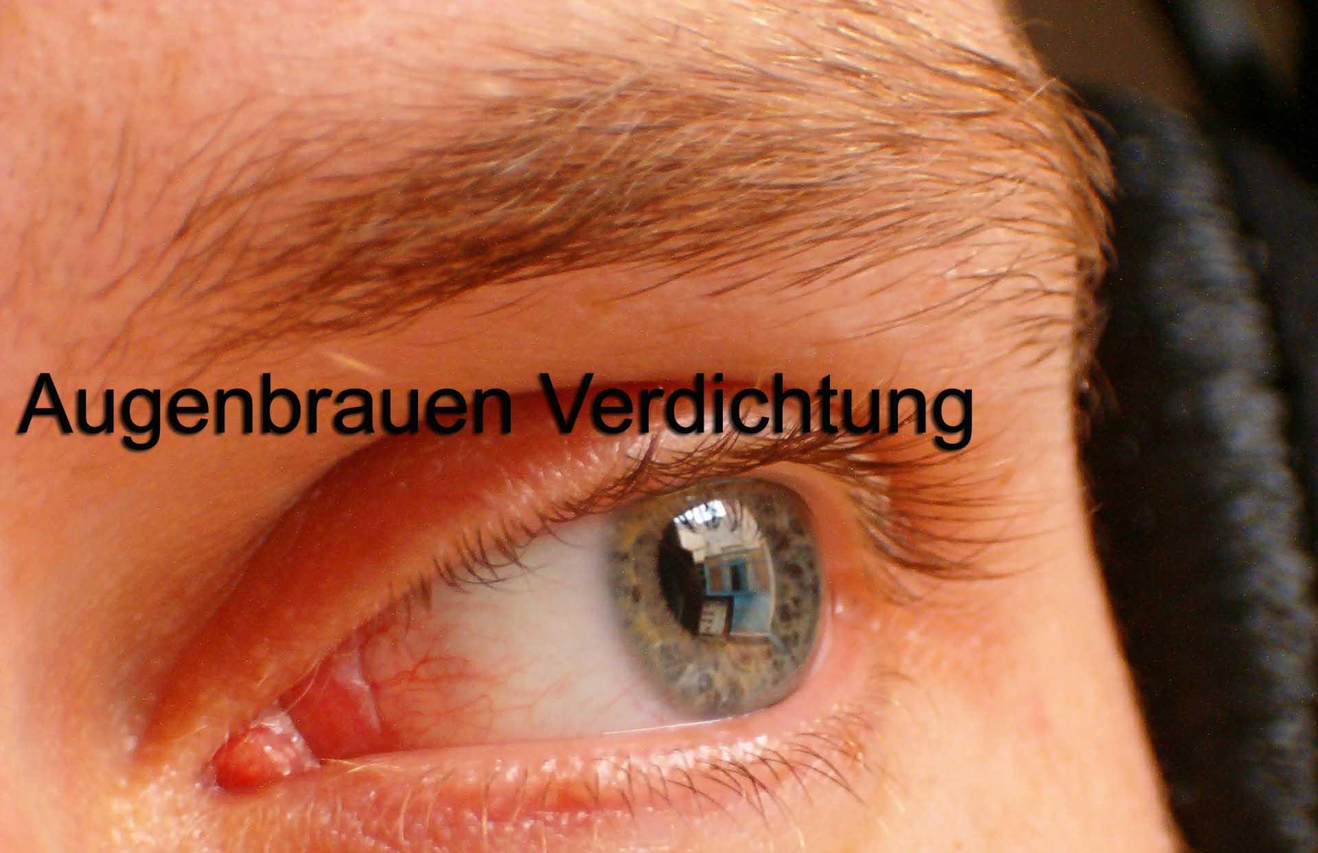 Augenbrauen Verdichtung